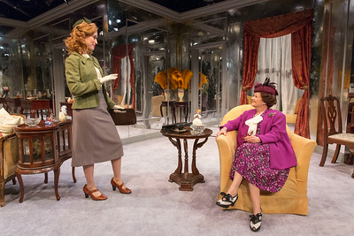 Victoria Mack and Cynthia Darlow in THE FATAL WEAKNESS by George Kelly. Photo: Richard Termine
