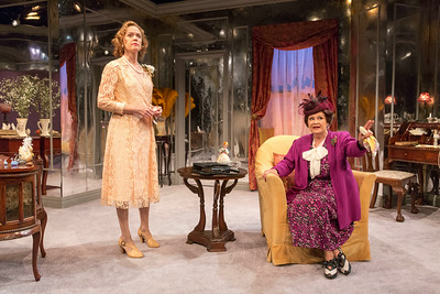 Kristin Griffith and Cynthia Darlow in THE FATAL WEAKNESS by George Kelly. Photo: Richard Termine