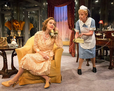 Kristin Griffith and Patricia Kilgarriff in THE FATAL WEAKNESS by George Kelly. Photo: Richard Termine