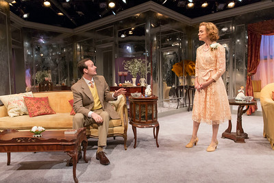 Sean Patrick Hopkins and Kristin Griffith in THE FATAL WEAKNESS by George Kelly. Photo: Richard Termine