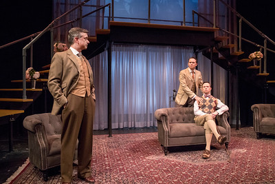 Michael Frederic, Robert David Grant, and Andrew Fallaize in THE LUCKY ONE by A.A. Milne. Directed by Jesse Marchese. Photo: Richard Termine.