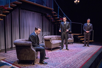 Ari Brand, Robert David Grant, and Michael Frederic in THE LUCKY ONE by A.A. Milne. Directed by Jesse Marchese. Photo: Richard Termine.
