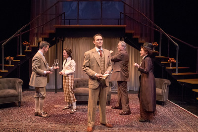Andrew Fallize, Mia Hutchinson-Shaw, Robert David Grant, Wynn Harmon, and Deanne Lorette in THE LUCKY ONE by A.A. Milne. Directed by Jesse Marchese. Photo: Richard Termine.