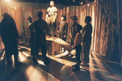 Bo Rucker and members of the cast in UNCLE TOM'S CABIN by George Aiken