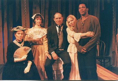 Karen Lynn Gorney, Lynn Workinger, Carl Palmer, Roth Cornet and Bo Rucker in UNCLE TOM'S CABIN by George Aiken