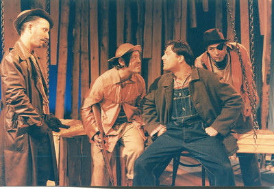 Gary Mink, John L. Damon, Christopher Newman and George Spaventa in UNCLE TOM'S CABIN by George Aiken