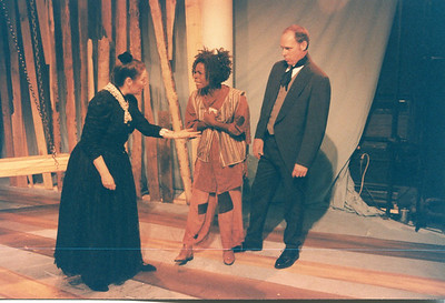 Karen Lynn Gorney, Renee Alberta and Carl Palmer in UNCLE TOM'S CABIN by George Aiken