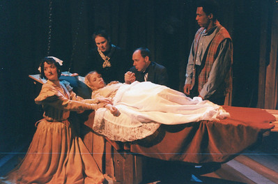 Lynn Workinger, Karen Lynn Gorney, Carl Palmer, Bo Rucker and Roth Cornet (in repose) in UNCLE TOM'S CABIN by George Aiken