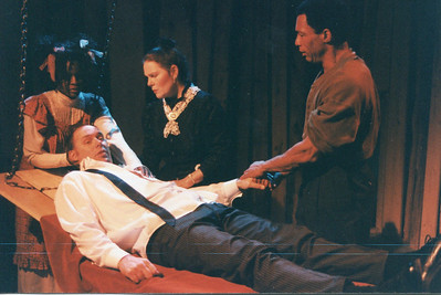 Renee Alberta, Karen Lynn Gorney, Bo Rucker and Carl Palmer (in repose) in UNCLE TOM'S CABIN by George Aiken