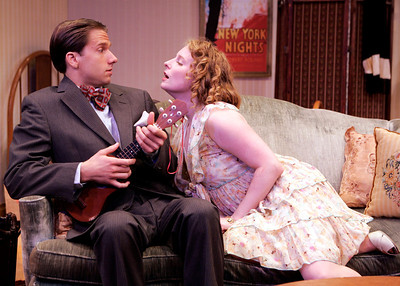 Ben Roberts and Amanda Jones in WALKING DOWN BROADWAY by Dawn Powell  Photo: Richard Termine