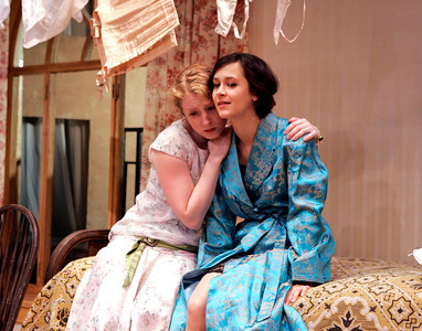Amanda Jones and Christine Albright in WALKING DOWN BROADWAY by Dawn Powell  Photo: Richard Termine