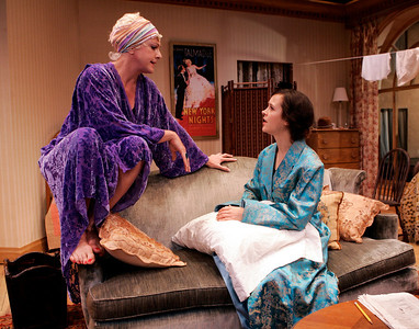 Carol Halstead and Christine Albright in WALKING DOWN BROADWAY by Dawn Powell  Photo: Richard Termine