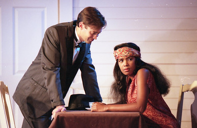 Michael Moore and Sylver Gregory in WELCOME TO OUR CITY by Thomas Wolfe Photo: Richard Termine