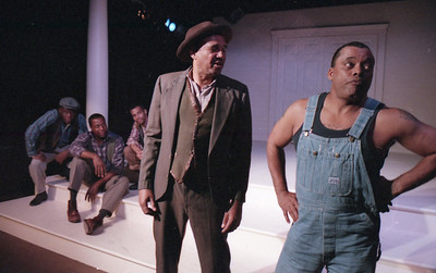 Bergin Michaels, Brockton Pierce, John Lyndsey Hall, Frank Swingler and Don Clark Williams in WELCOME TO OUR CITY by Thomas Wolfe  Photo: Richard Termine