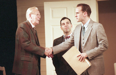Larry Swansen, Patrick Riviere and Haakon Jepsen in WELCOME TO OUR CITY by Thomas Wolfe  Photo: Richard Termine