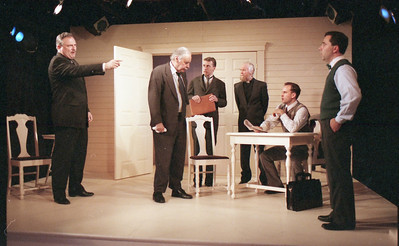 David Winton, Ward Asquith, Jonathan Tindle, T.D. White, Haakon Jepson and Patrick Riviere in WELCOME TO OUR CITY by Thomas Wolfe  Photo: Richard Termine