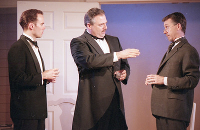 Haakon Jepsen, David Winton and Jonathan Tindle in WELCOME TO OUR CITY by Thomas Wolfe  Photo: Richard Termine
