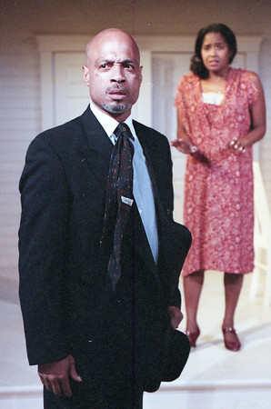 Eric R. Moreland and Sylver Gregory in WELCOME TO OUR CITY by Thomas Wolfe Photo: Richard Termine