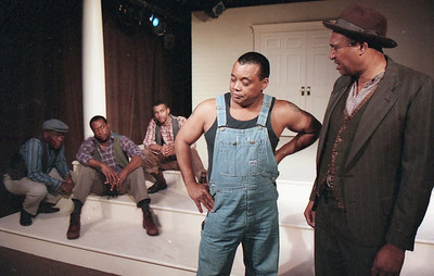 Bergin Michaels, Brockton Pierce, John Lyndsey Hall, Don Clark Williams and Frank Swingler in WELCOME TO OUR CITY by Thomas Wolfe  Photo: Richard Termine