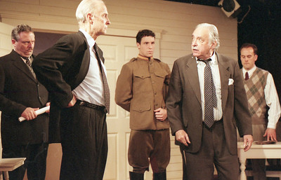 David Winton, Lee Moore, Michael LiDondici, Ward Asquith and Haakon Jepsen in WELCOME TO OUR CITY by Thomas Wolfe  Photo: Richard Termine