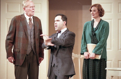 Larry Swansen, Patrick Riviere and Robyne Parrish in WELCOME TO OUR CITY by Thomas Wolfe  Photo: Richard Termine