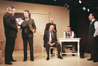 David Winton, Jonathan Tindle,T.D. White, Ward Asquith (seated), Haakon Jepson and Patrick Riviere in WELCOME TO OUR CITY by Thomas Wolfe  Photo: Richard Termine
