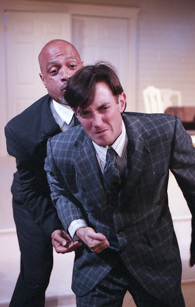 Eric R. Moreland and Michael Moore in WELCOME TO OUR CITY by Thomas Wolfe Photo: Richard Termine