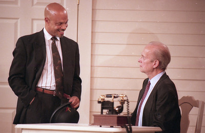 Eric R. Moreland and Lee Moore in WELCOME TO OUR CITY by Thomas Wolfe  Photo: Richard Termine