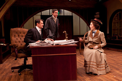 Rob Breckenridge, Marc Vietor and Ellen Adair in WHAT THE PUBLIC WANTS by Arnold Bennett  Photo: Richard Termine
