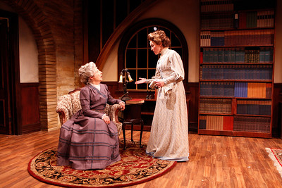 Mary Baird and Birgit Huppuch in WHAT THE PUBLIC WANTS by Arnold Bennett Photo: Richard Termine