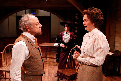 Jeremy Lawrence, Birgit Huppuch and Ellen Adair in WHAT THE PUBLIC WANTS by Arnold Bennett  Photo: Richard Termine