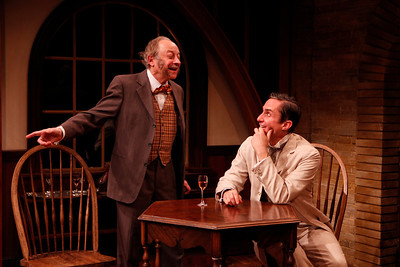 Jeremy Lawrence and Marc Vietor in WHAT THE PUBLIC WANTS by Arnold Bennett  Photo: Richard Termine