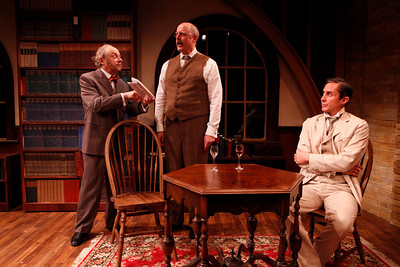 Jeremy Lawrence, Douglas Rees and Marc Vietor in WHAT THE PUBLIC WANTS by Arnold Bennett  Photo: Richard Termine