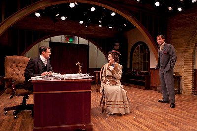 Rob Breckenridge, Ellen Adair, and Marc Vietor in WHAT THE PUBLIC WANTS by Arnold Bennett  Photo: Richard Termine