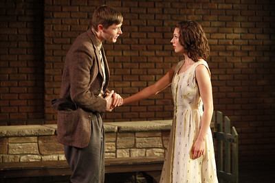 Thomas Matthew Kelley and Janie Brookshire in WIFE TO JAMES WHELAN by Teresa Deevy  Photo: Carol Rosegg Photography