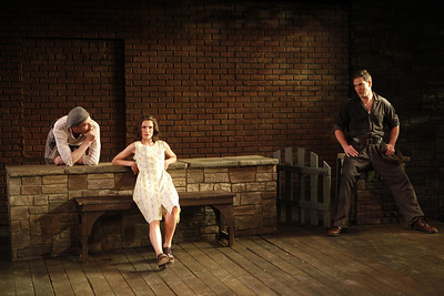 Aidan Redmond, Janie Brookshire and Jeremy S. Holm in WIFE TO JAMES WHELAN by Teresa Deevy  Photo: Carol Rosegg Photography