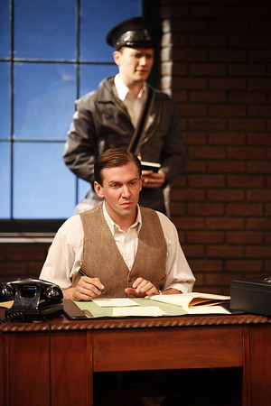 Jon Fletcher (in back) and Shawn Fagan in WIFE TO JAMES WHELAN by Teresa Deevy  Photo: Carol Rosegg Photography
