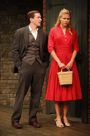 Shawn Fagan and Liv Rooth in WIFE TO JAMES WHELAN by Teresa Deevy Photo: Carol Rosegg Photography