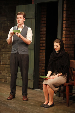 Jon Fletcher and Janie Brookshire in WIFE TO JAMES WHELAN by Teresa Deevy  Photo: Carol Rosegg Photography