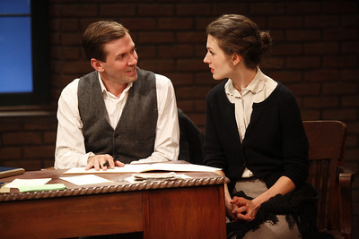 Shawn Fagan and Janie Brookshire in WIFE TO JAMES WHELAN by Teresa Deevy  Photo: Carol Rosegg Photography