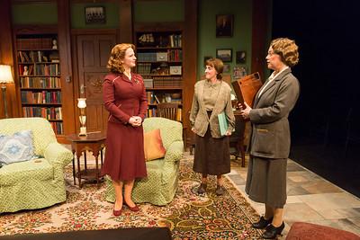 Emily Walton, Aedin Moloney, and Kellie Overbey in WOMEN WITHOUT MEN by Hazel Ellis. Photo: Richard Termine.