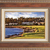 Pebble Beach Sunset in Western wood frame