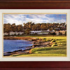 "Pebble Beach Sunset in ""Modern Frame"""