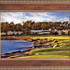 Pebble Beach Sunset in Western wood frame (without linen)