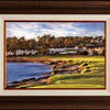 Pebble Beach Sunset in African Walnut frame