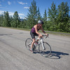 A biker at the TR Triathlon