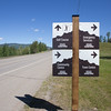 Tumbler Ridge's new wayfinding signs went up last week.