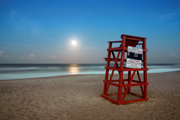 Moonrise over South Cocoa Beach.