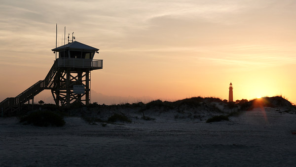 Sunset at Ponce Inlet Lighthouse Park.