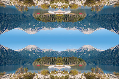 Majestic evelation surrounding Lake Traful
